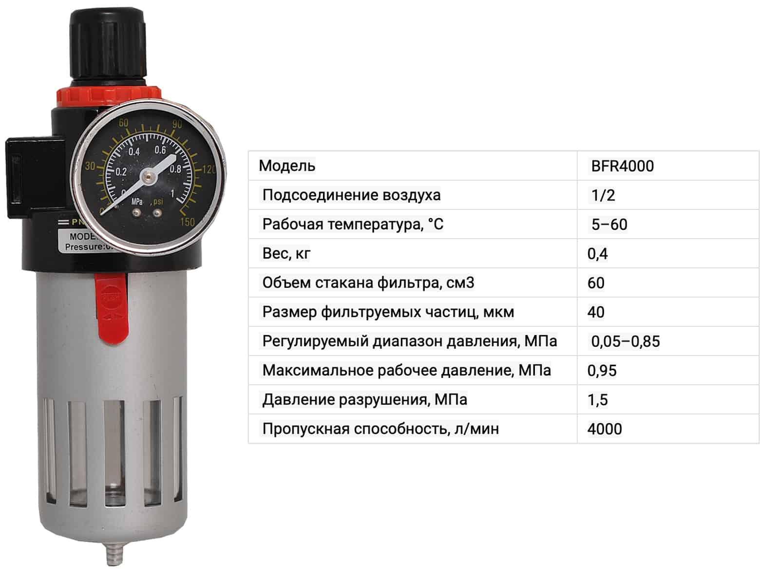 Фильтр-регулятор BFR 4000