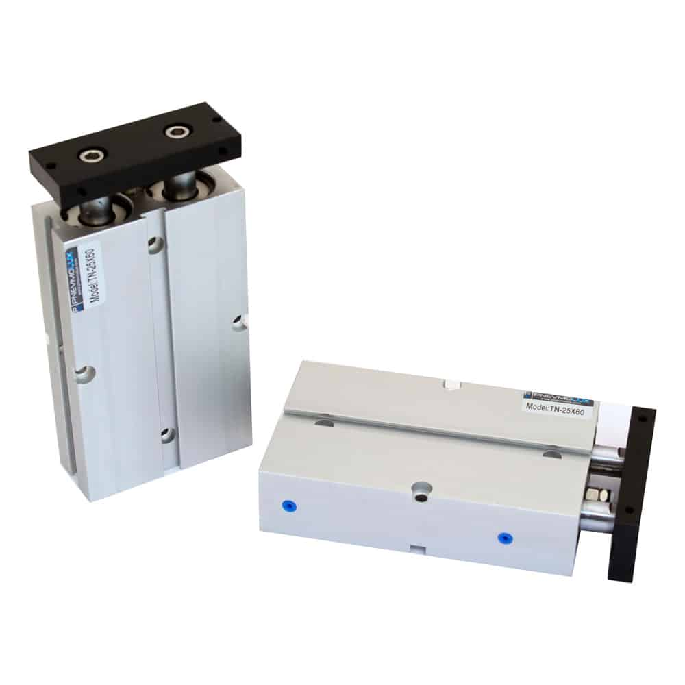 TN series compact double rod pneumatic cylinder
