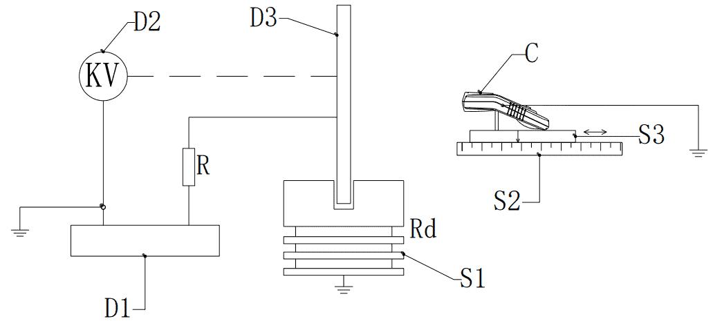 Структурная схема бесконтактного электростатического устройства калибровки вольтметра
