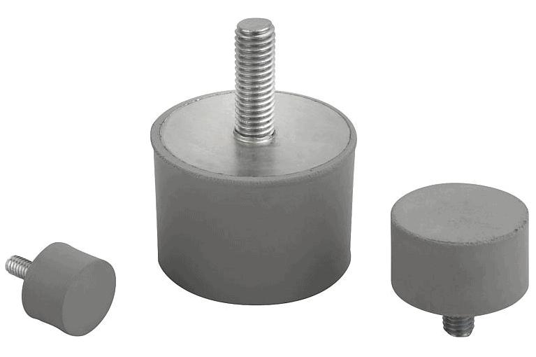 K1318 Виброопоры с наружной резьбой, нержавеющая сталь