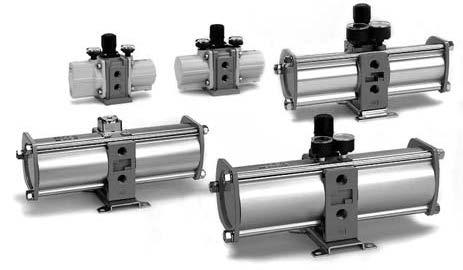 Усилители давления сжатого воздуха SMC, с коэффициентом усиления 1:4.